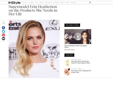 Erin Heatherton of Adore Cosmetics featured in InStyle Magazine