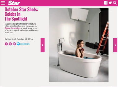Erin Heatherton of Adore Cosmetics featured in Star Magazine