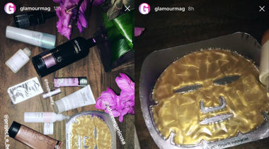 Glamour Features Adore Cosmetics 24K Techno Dermis Mask