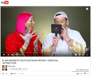 Adore Cosmetics Golden Touch Magnetic Facial Mask Reviewed by Manny Mua