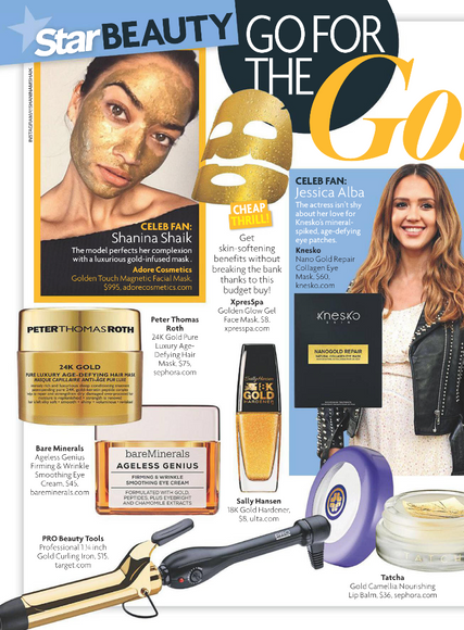 Shanina Shaik Glows in Adore's Golden Touch Mask