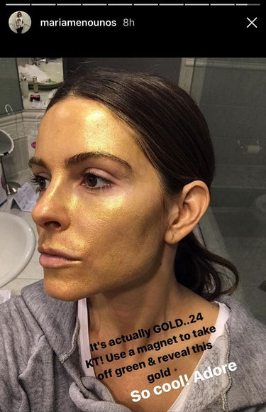 Maria Menounos Shows Off her Adore 24K Gold Mask