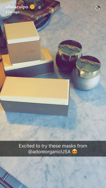 Olivia Culpo Excited to Try Masks from Adore Cosmetics