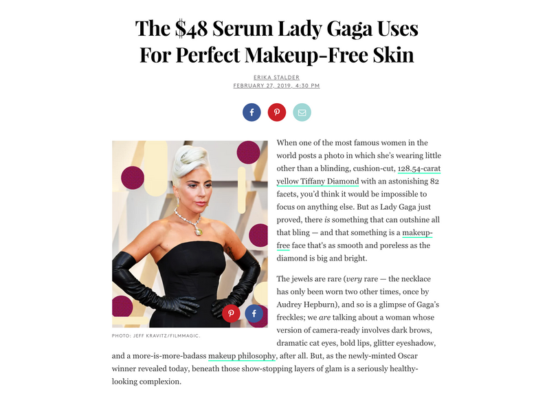 Lady Gaga Oscar Look is Sculpted by Adore Cosmetics