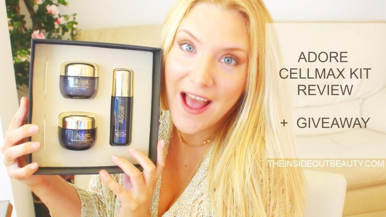 TheInsideOutBeauty Review & Giveaway of Adore Cosmetics Cellmax Kit