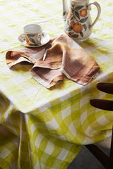 Limoncello Gingham Linen Napery