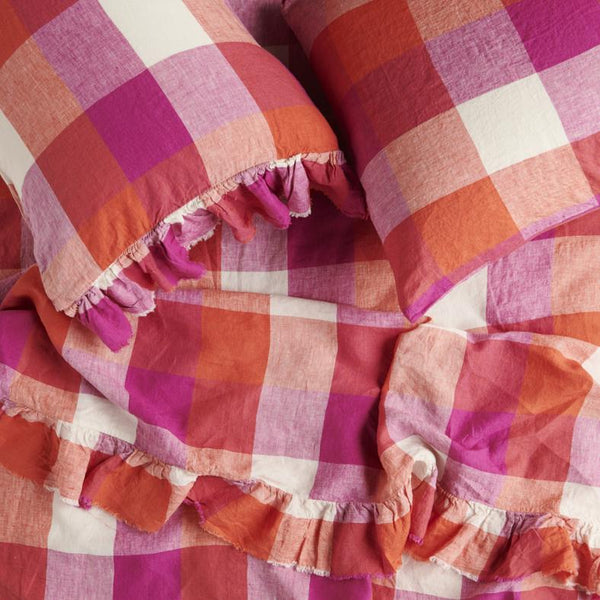 PREORDER - Sherbet Check Fitted Sheet