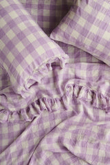 PREORDER - Lilac Gingham Fitted Sheet