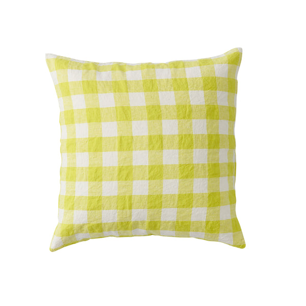 PREORDER - Limoncello Gingham Cushion