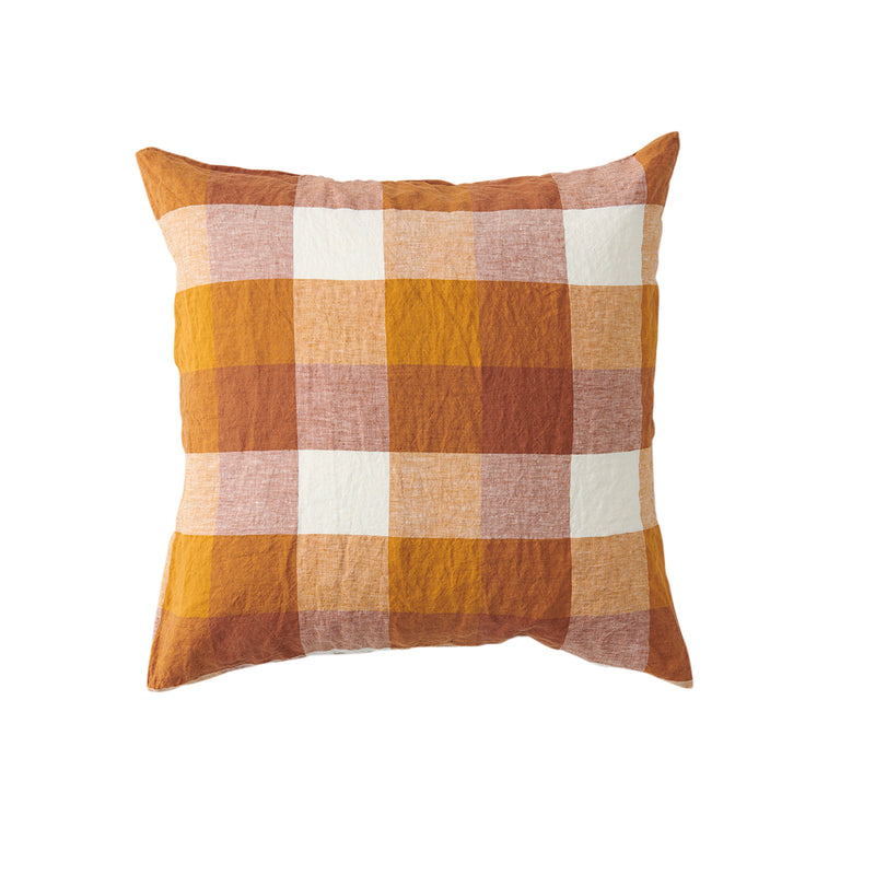 Biscuit Check Cushion