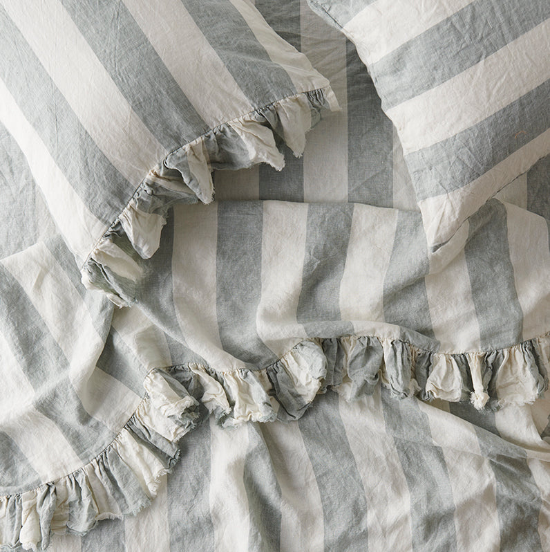 Fog Stripe Fitted Sheet