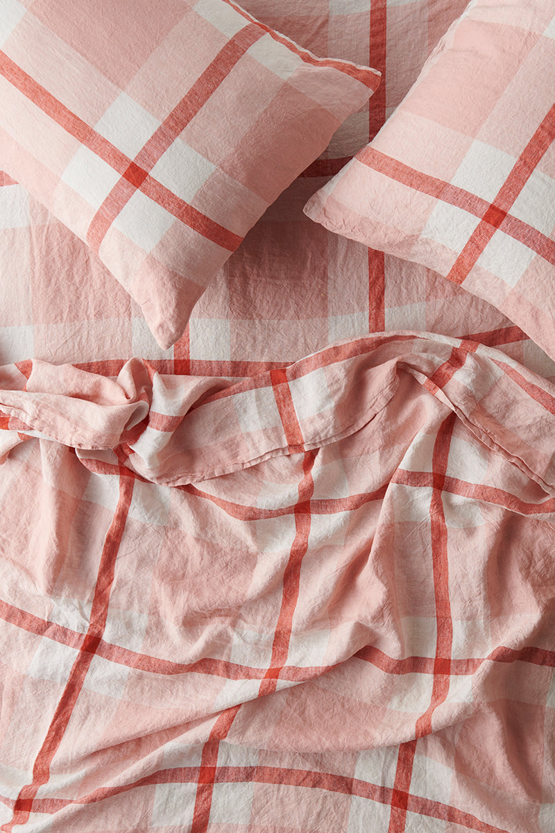 Floss Check Fitted Sheet