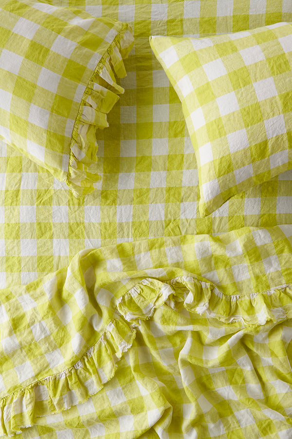PREORDER - Limoncello Gingham Fitted Sheet