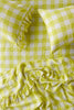 Limoncello Gingham Fitted Sheet