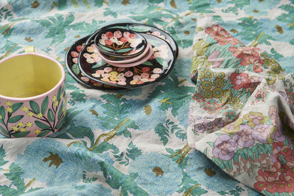 Joan's Floral Linen Napery