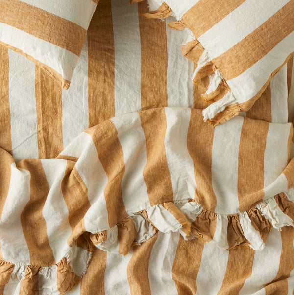 Turmeric Stripe Fitted Sheet