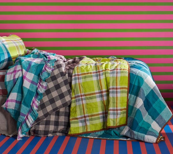 Licorice Gingham Duvet Cover