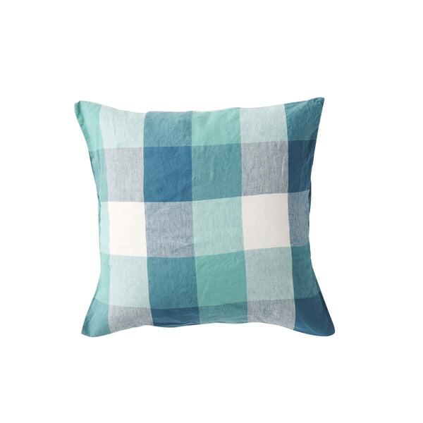 PREORDER - Peacock Check Cushion