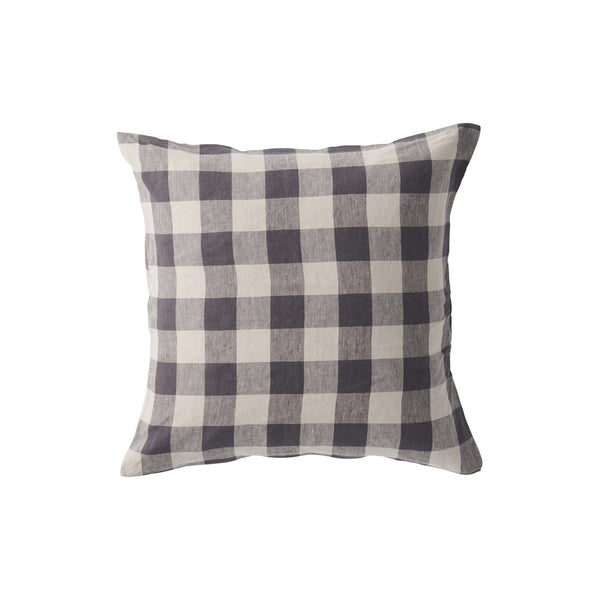 Licorice Gingham Cushion