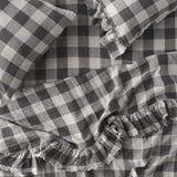 Licorice Gingham Fitted Sheet