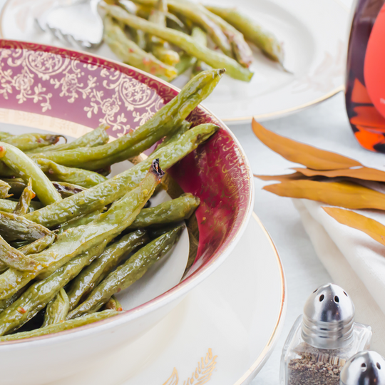 Keto Green Beans with Maple Mustard Dressing