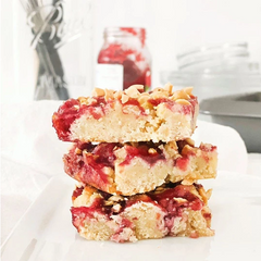Low Carb Peanut Butter & Jelly Blondies