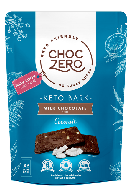 Milk Chocolate Coconut Keto Bark - No Added Sugar, Low Carb