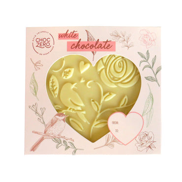 Keto White Chocolate Solid Heart - Limited Edition - Low Carb