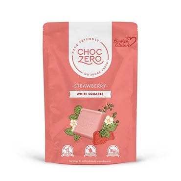 Strawberry White Chocolate Squares - Limited Edition - Keto, Low Carb