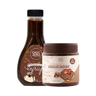 Chocolate Lovers Bundle - Milk Chocolate Hazelnut Spread & Chocolate Syrup