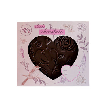 Keto Dark Chocolate Solid Heart - Keto Valentine's Day Collection
