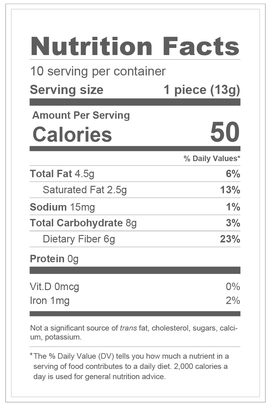 Dark Chocolate Sugar Free Easter Bunny - 4oz Nutrition Facts