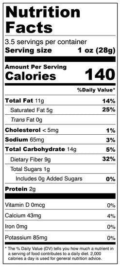White Chocolate Pumpkin Spice Double Dipped Almonds Nutrition Facts