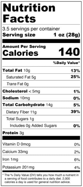 4-pack Milk Chocolate Coconut Double Dipped Almonds Nutrition Facts