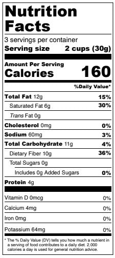 Peanut Butter Lovers Peanut Butter Cups - Sugar Free, Keto Friendly Nutrition Facts