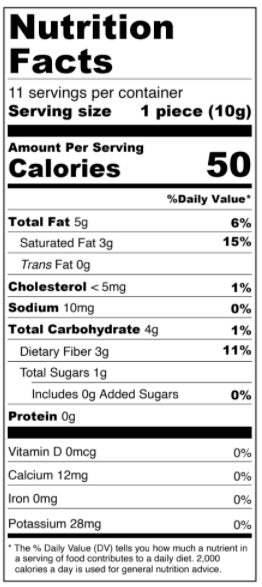 Keto Milk Chocolate Solid Heart - Limited Edition - Low Carb Nutrition Facts