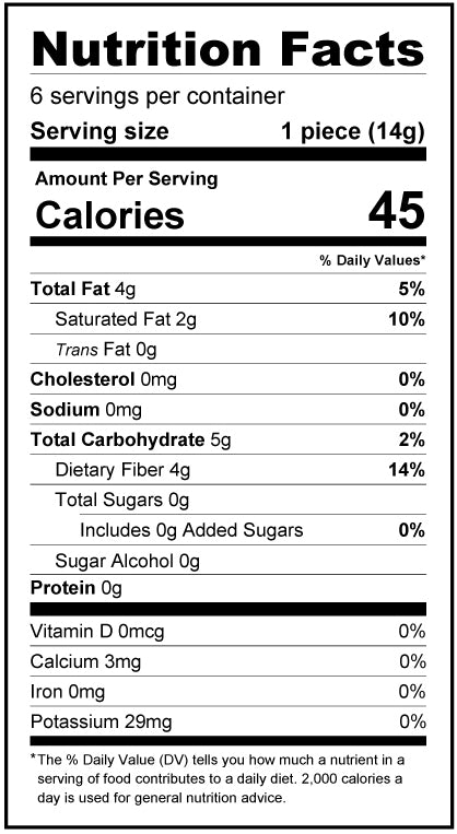 Dark Chocolate Easter Bunny - 3oz - Sugar Free, Low Carb Nutrition Facts