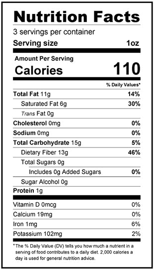 5-Pack Bundle - Raspberry Dark Chocolate Rose Bars - Keto, Low Carb Nutrition Facts