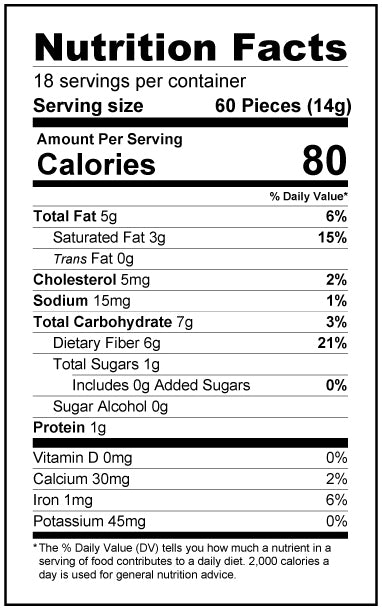 Strawberry White Chocolate Chips (9oz) - Limited Edition - Keto, Low Carb Nutrition Facts