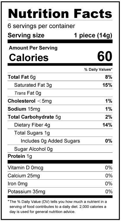 White Chocolate Easter Bunny - 3oz - No Sugar Added, Low Carb Nutrition Facts