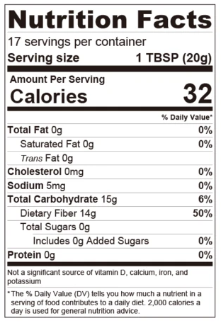 Peach Sugar Free Syrup - Low Carb, Keto, Seasonal Flavor Nutrition Facts