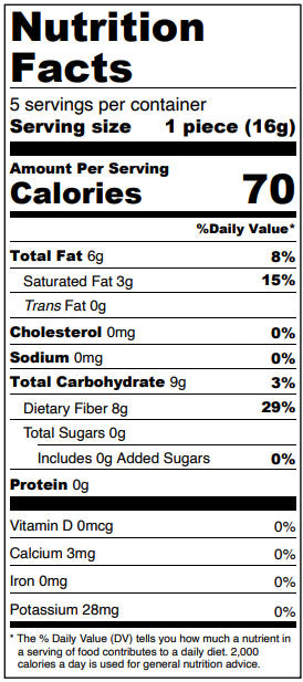 Dark Chocolate Maple Pecan Truffles - Sugar Free, Fall Collection Nutrition Facts