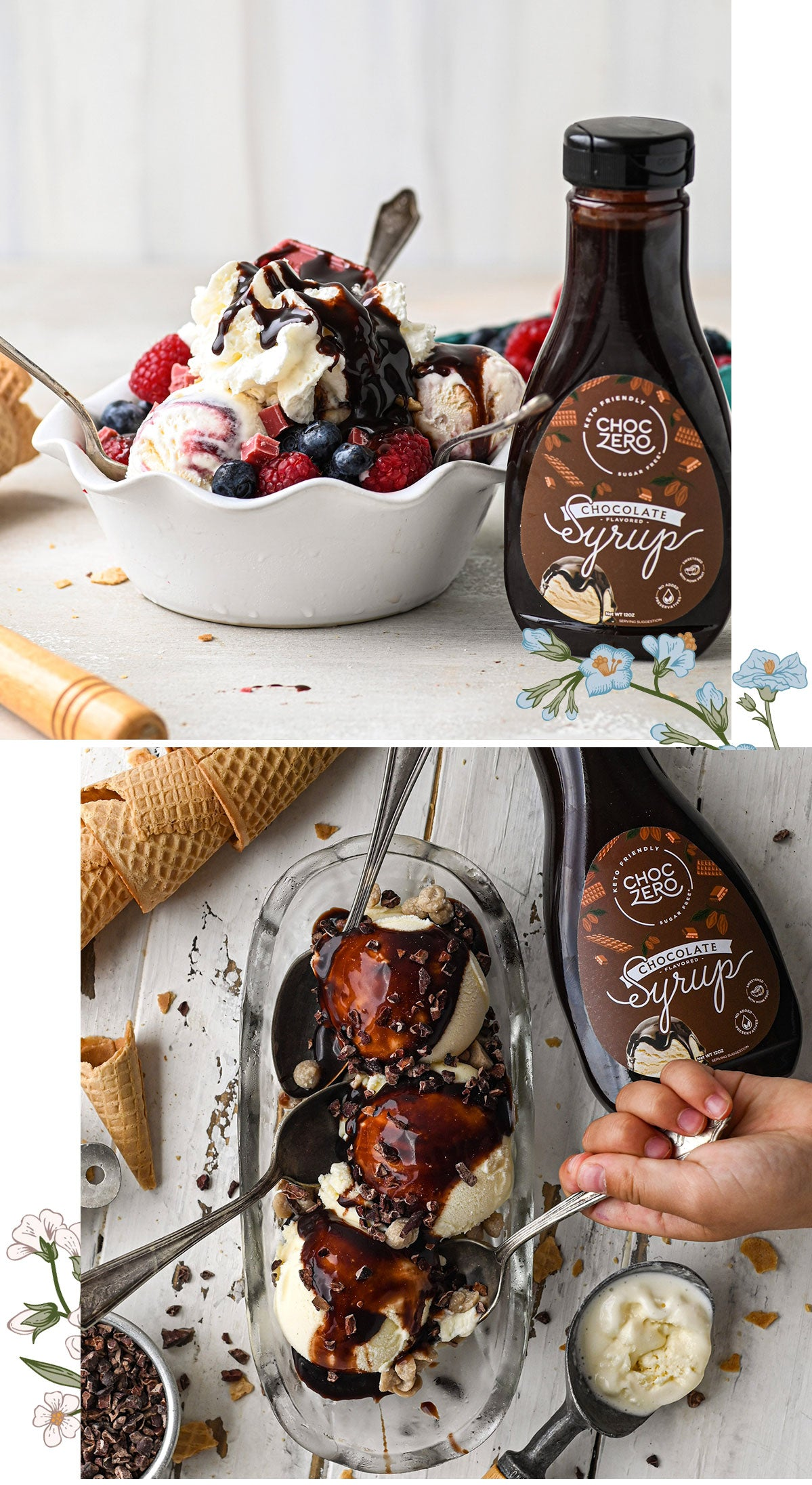 Ice Cream Lover's Bundle - Sugar Free Caramel and Chocolate Syrup 2-Pack Nutrition Facts