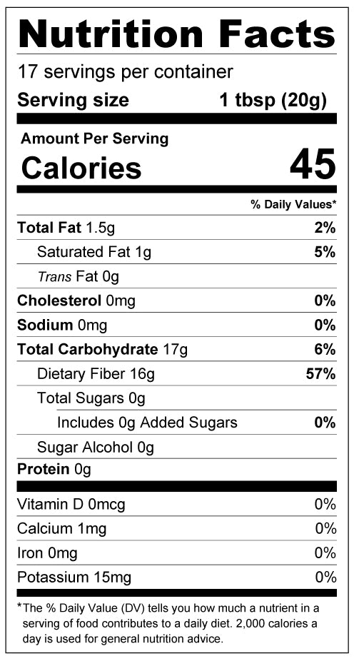 Chocolate Peppermint Sugar Free Syrup - Keto, Low Carb - Seasonal Flavor Nutrition Facts