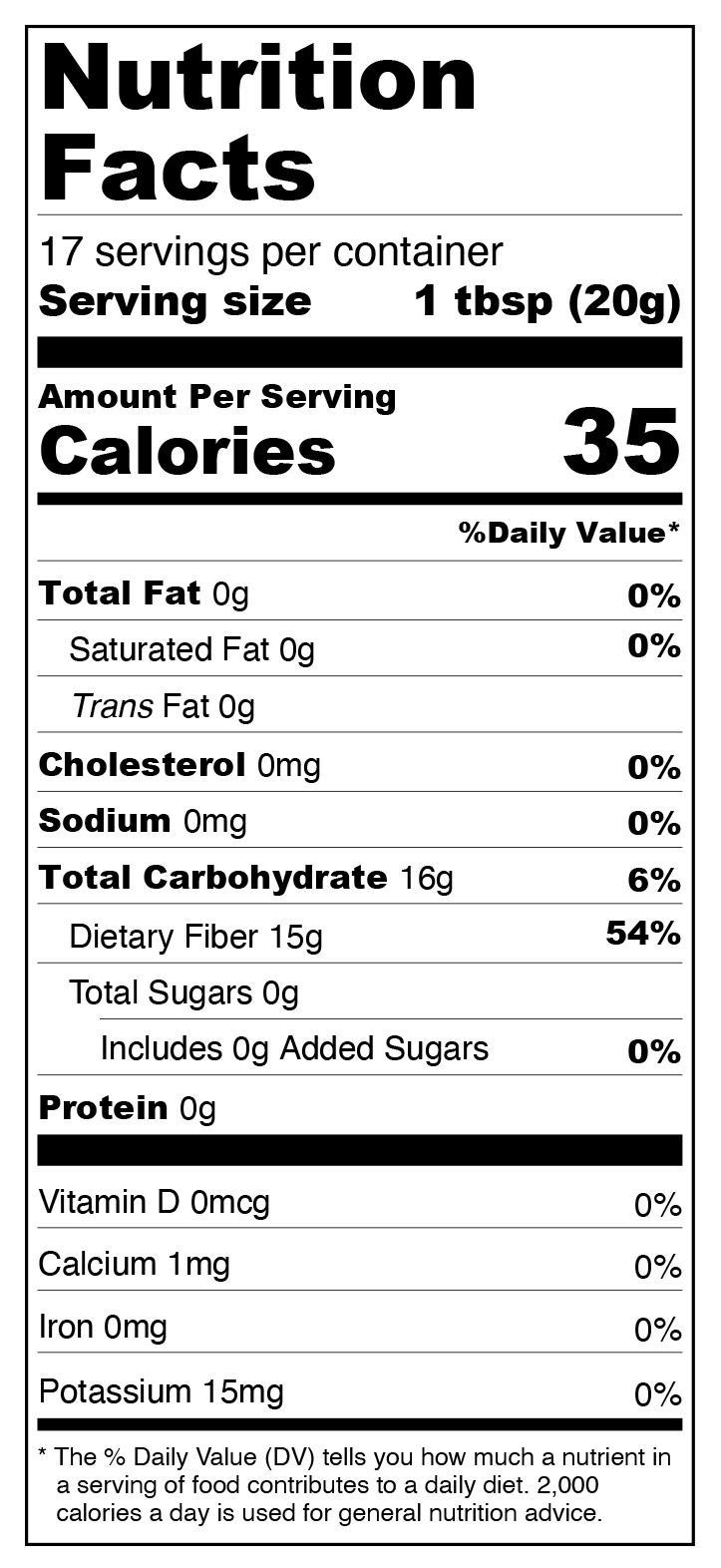 Vanilla Sugar Free Syrup - Keto, Low Carb Nutrition Facts
