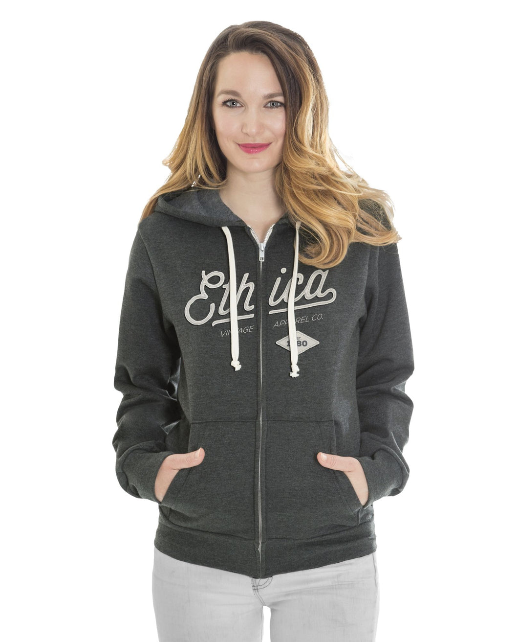 ethica Unisex Hooded Full Zip Sweater 517
