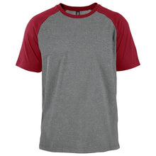 Heather grey cool grey 9c-cardinal red 201c