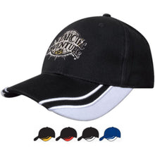 4073 Brushed Heavy Cotton Cap with Curved Peak Inserts