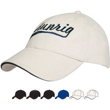 4176 Brushed Poly Cotton Cap with Sandwich Trim