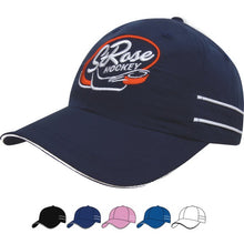 4077 Microfiber Sports Cap with Piping and Sandwich